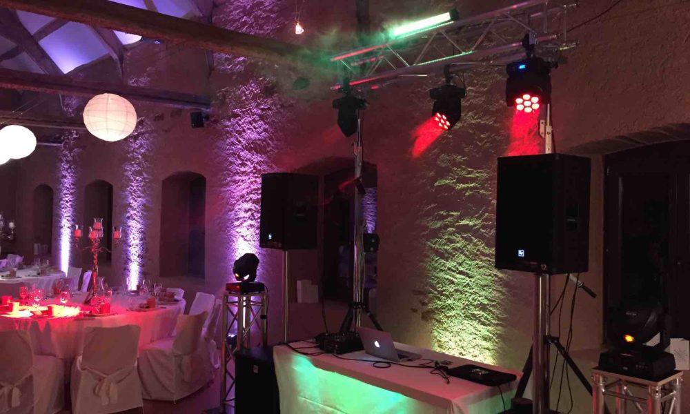 Hochzeit Schloss Niederweis DJ LED Strahler
